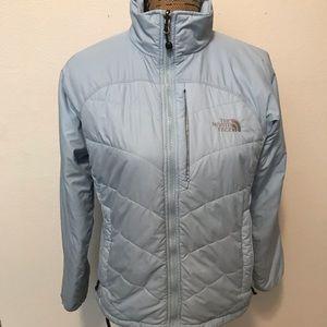 North face medium women's winter jacket baby blue